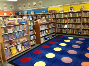 Dedicated volunteers created this vibrant school library at Kaiser Elementary school in the spring of 2013.